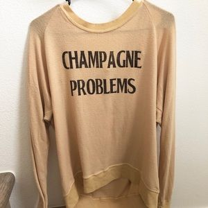 MAKE AN OFFER Champagne Problems Sweater